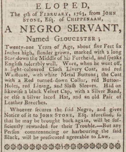 Bath Chronicle, 10 de febrero de 1763. Imagen: © The British Library Board. All Rights Reserved.